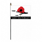 Lest We Forget RAF Hand Flag - Small